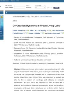 Co-Creation Dynamics in Urban Living Labs